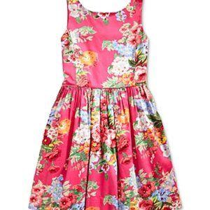 Ralph Lauren Floral Fit & Flare Sateen Party Dress